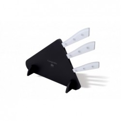 N. 7260 Compendio Lucite Block With 3 Knives - 1