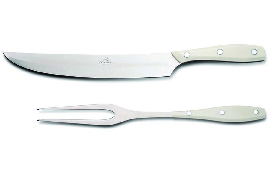 N. 52126 Leather Case Carving Knife & Fork - 1