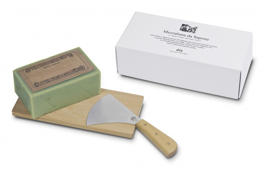 N. 130 Mincing Knife W/Soap And Board - 1