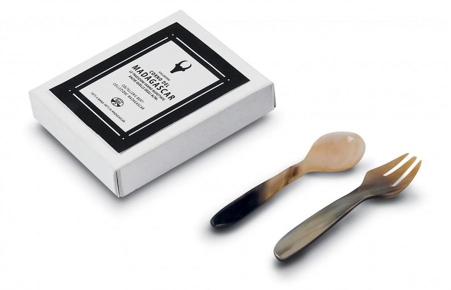 N. 6016 Pair Spoon/Fork Cm  7,5 - 1