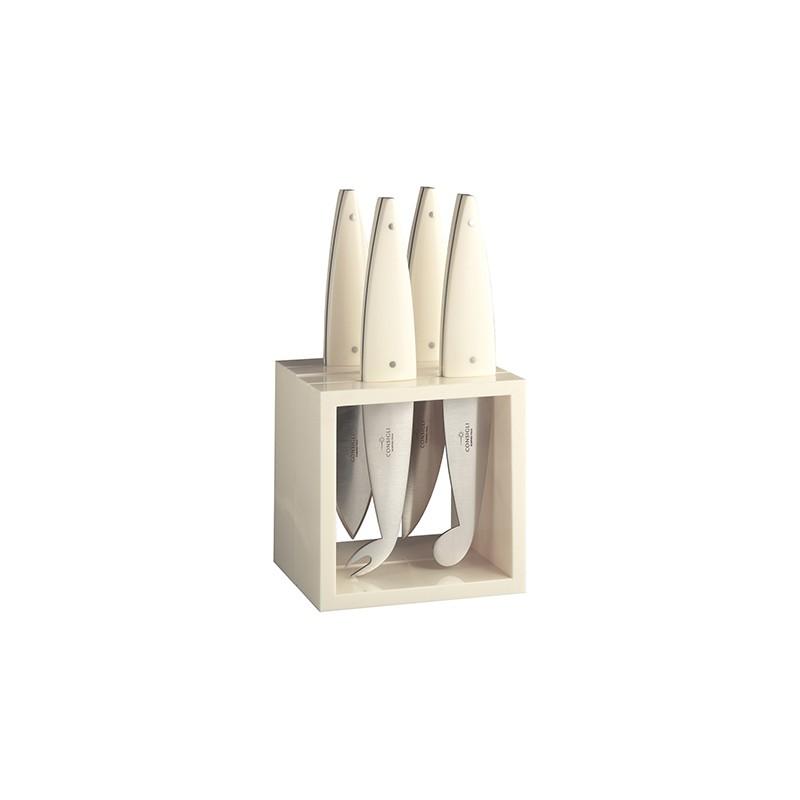 N. 52232 Cube 4 Pcs. Cheese Knives - 1